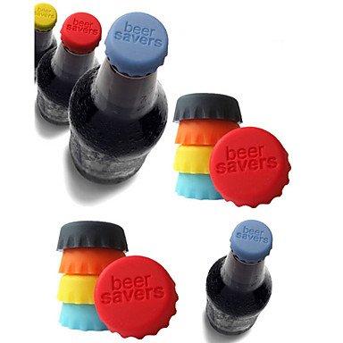 Bouteilles de bière silicone/capuchon (lot de 6)-différentes couleurs wadle-shop ®