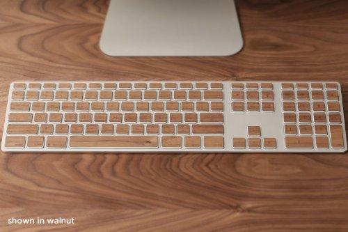 For Apple Wireless Keyboards With Numeric Pad - Lazerwood'S 100% Real Walnut Wood Keys