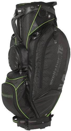 Wellzher T.E. Cart Bag (Black/Green)