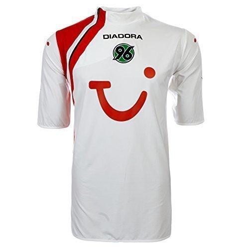 Diadora Hannover 96 - Maglia da calcio, Bianco (bianco), XXL