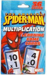 Spiderman Multiplication Learning Game Cards - 1