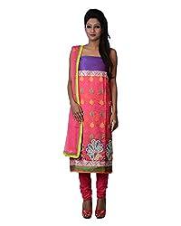 Mumtaz Sons Women's Cotton Unstitched Dress Material (MS111411B,Gajari)