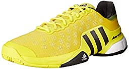 adidas Performance Men\'s Barricade 2015 Tennis Shoe, Bright Yellow/Black/White, 8.5 M US