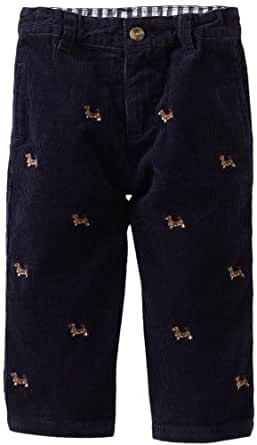 Hartstrings Baby Boys' Embroidered Corduroy Pant, Dog Embroidery, 12 Months