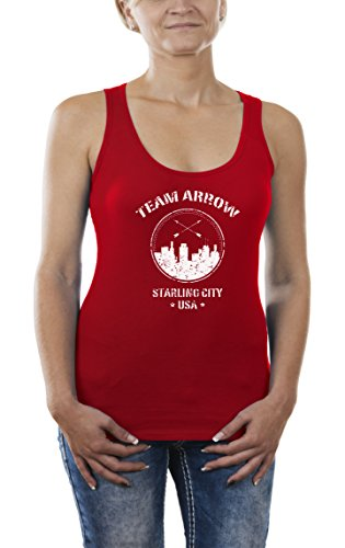 Touchlines Team Arrow, Tank Top Donna, Rot (Red 08), X-Large