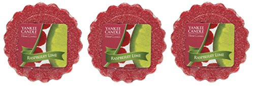 Lot Of 3 Yankee Candle Home Classics Raspberry Lime .8 Oz Tarts Wax Melts