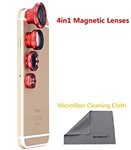 WONBSDOM Magnetic Clip On lens kit (Red)