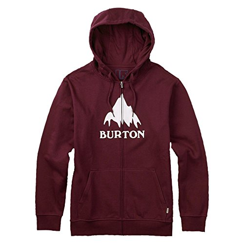 Burton Classic Mountain Felpa da uomo, zip intera, Uomo, Hoodie CLASSIC MOUNTAIN FULL-ZIP, Wino, M
