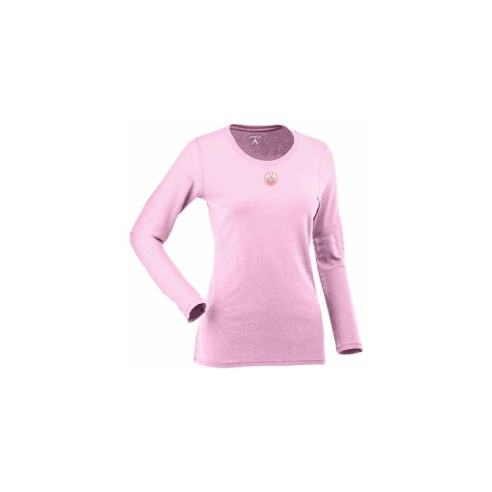 Edmonton Oilers Womens Relax Long Sleeve Tee (Pink)