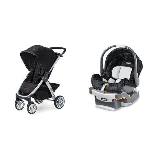 Chicco Bravo Stroller & Chicco KeyFit Infant Car Seat in Ombra - 1