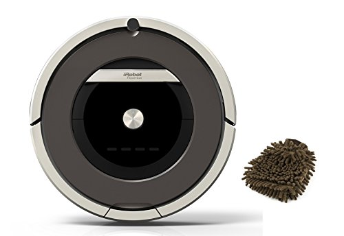 Roomba 870 HEPA Vacuum iRobot Cleaning Robot, Robotic Cleaner for Pets and Allergies (Complete Set) w/ Bonus: Premium Microfiber Cleaner Bundle