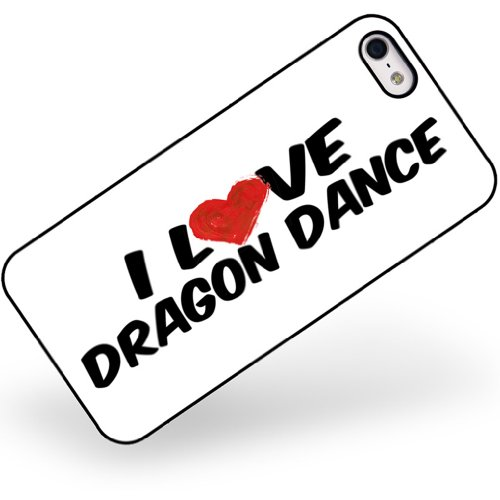Rubber Case for iphone 5 5s I Love Dragon Dance – Neonblond