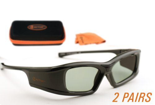 3ACTIVE Samsung-compatible 3D Glasses for 2010 'C ' Series 3D TVs. Rechargeable. TWIN-PACK Black Friday & Cyber Monday 2014