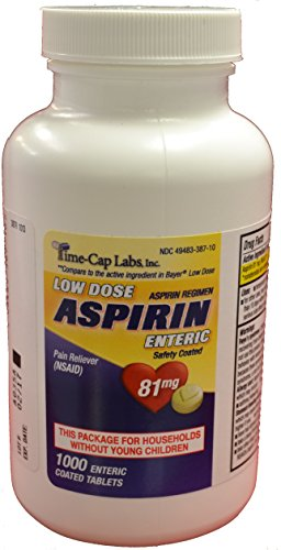 Time Cap Labs Aspirin Adult Low Dose Enteric Coated