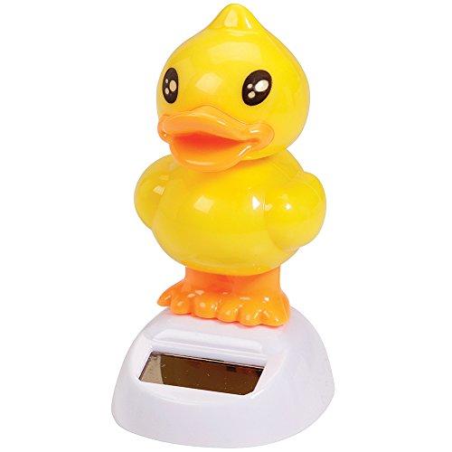 Solar Powered Dancing Baby Duck Duckling Bobblehead Bobber Desk Accessory - 1