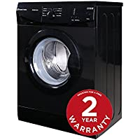 Russell Hobbs RHWM612B-M 6kg 1200 spin Black Washing Machine - Free 2 Year Warranty*