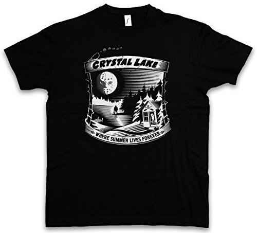 "WHERE SUMMER LIVES FOREVER ""J"" T-SHIRT - Venerdì 13 The 13 Friday Jason Horror 13th Camp Crystal Lake Größen S - 5XL"