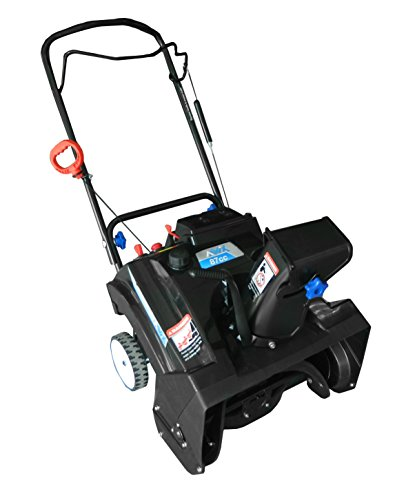 AAVIX AGT1420 Gas 87CC Powered Single Stage Snow Thrower, 20-Inch, Black/Blue