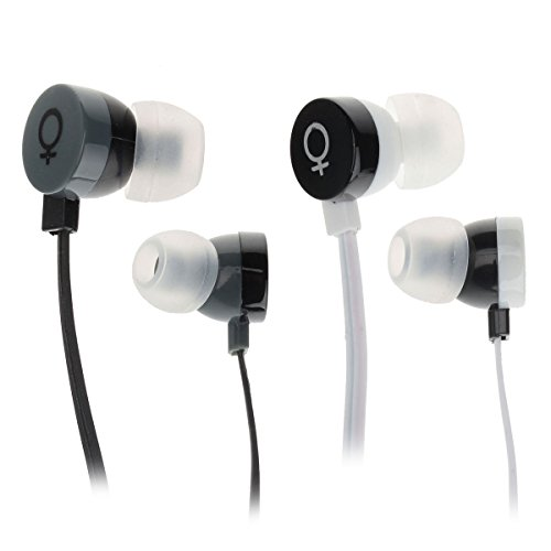 Elmcoei V28 Fashion In-Ear Earphones W/ Microphone (2Pcs, 3.5Mm Plug 120Cm-Cable)
