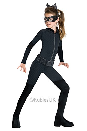 Rubies Catwoman Girls Fancy Dress Costume Batman Dark Knight Childs Jumpsuit