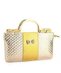 LadyBugBag Golden Designer Handbag - LBB10115