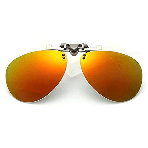 LOMOL Fashion Polarized Myopia Clip-on Flip up UV Protection Aviator Style Sunglasses(C5) (Where Can I Buy Cat Eye Contacts)