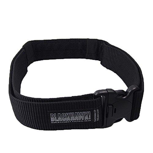 A-Parts Military Survival Tactical Belt Fire Rescue Rigger Waist CQB Belt (Black, M)