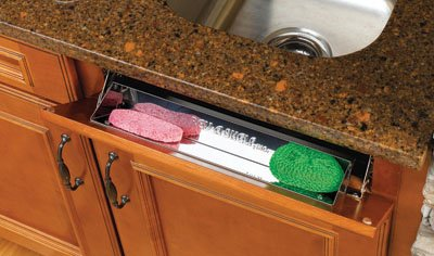 Rev-A-Shelf 14-1/4in Stainless Steel Tip-Out Tray (hinge sold separately)