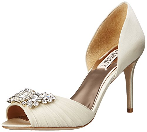 Badgley Mischka Women's Scarlett D'Orsay Pump, Ivory, 7.5 M US