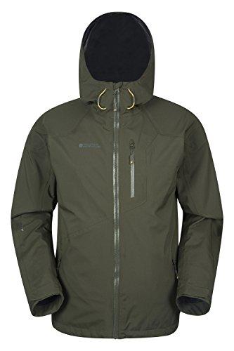 Mountain Warehouse Bachill Herren wasserdichte atmungsaktive Jacke mit Kapuze Anorak Regenmantel