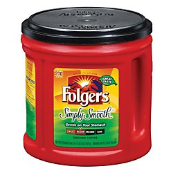 Folgers Simply Smooth Coffee, 34.5 Ounce