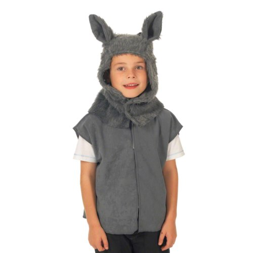 Wolf Costume for Kids. One Size. 3-9 Years.