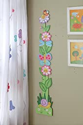 Fantasy Fields - Magic Garden Thematic Kids Wooden Growth Chart | Imagination Inspiring Hand Painted Details | Non-Toxic, Lead Free Water-based Paint