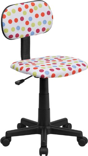 Flash Furniture Multi-Colored Dot Printed Swivel Task Chair