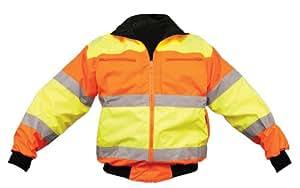OK-1 4202 Size 5 XL Lime and Orange Reversible Bomber Jacket