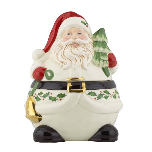 Lenox Holiday Santa Cookie Jar