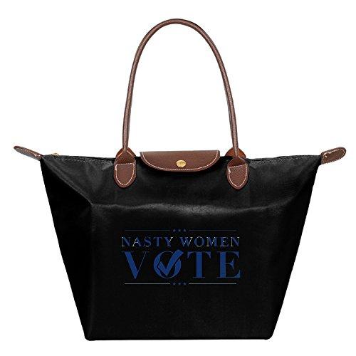 nasty-woman-vote-foldable-large-tote-bags-shopping-handbags-black
