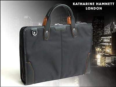キャサリンハムネット【KATHARINE HAMNETT】〔リファインド〕A4ファイルラウンドファスナーブリーフケース