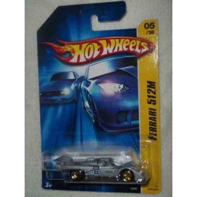 Mattel Hot Wheels 2006 New Models 1:64 Scale Silver Ferrari 512 M Die Cast Car #005 - 1