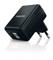 Philips Wall Charger 2USB 5W/1A