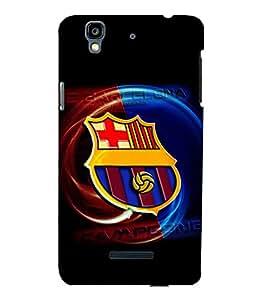 printtech Football Champion Team Back Case Cover for YU Yureka::Micromax Yureka AO5510