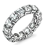 7.44 ct Asscher cut Diamond Eternity Band in Platinum