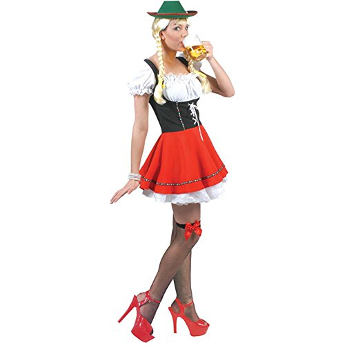 Adult Women's Bavarian Beer Girl Halloween Costume (Size: 12)