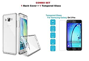 Karimobz back Cover for Samsung On5 Pro (4th generation) + free tempered glass