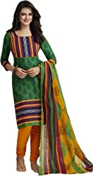 Taos Brand pure cotton dresses materials for women salwar suits New Arrival latest 2016 womens party wear unstitched dress materials green orange blue(D.no.1221 freesize)