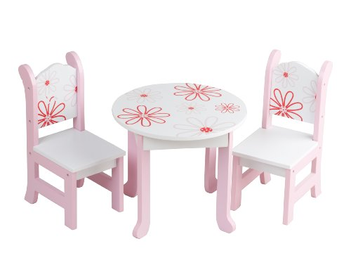 Doll Furniture American Girl Floral Table Chairs Boutique Style Collection 18 Ebay