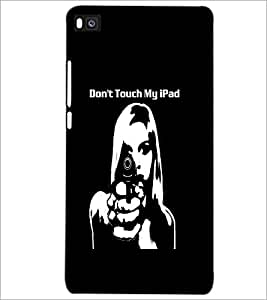 PrintDhaba Girl and Gun D-2370 Back Case Cover for HUAWEI P8 (Multi-Coloured)