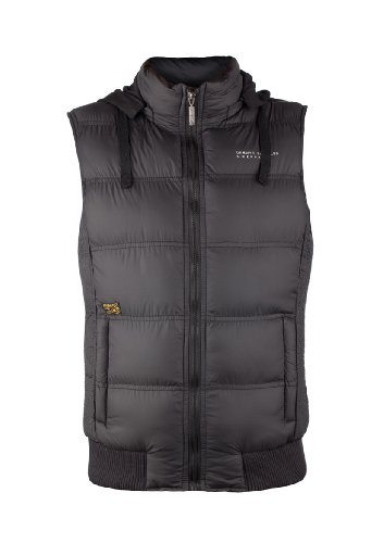 MENS GILET BODYWARMER WITH REMOVABLE HOOD