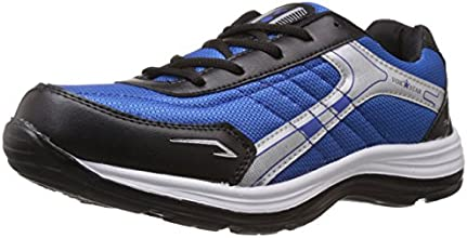 Vokstar Men's Black and Royal Blue Running Shoes