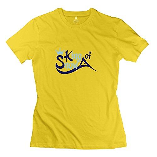 Zhitian Women'S Snowboarding T-Shirt - L Yellow